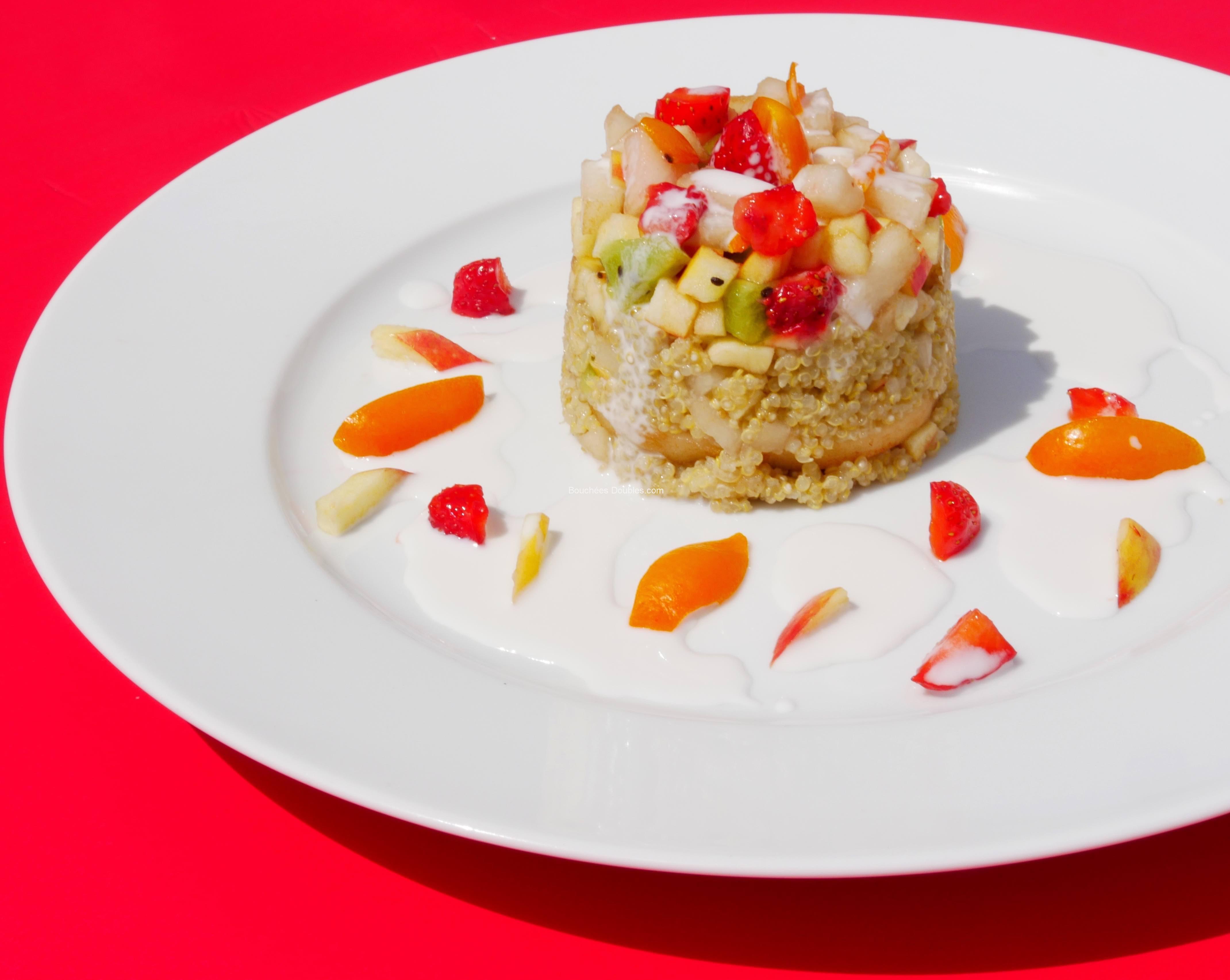 g teau quinoa coco vanille aux 7 fruits 1er prix d fi cuisine alcaline bouch es doubles. Black Bedroom Furniture Sets. Home Design Ideas