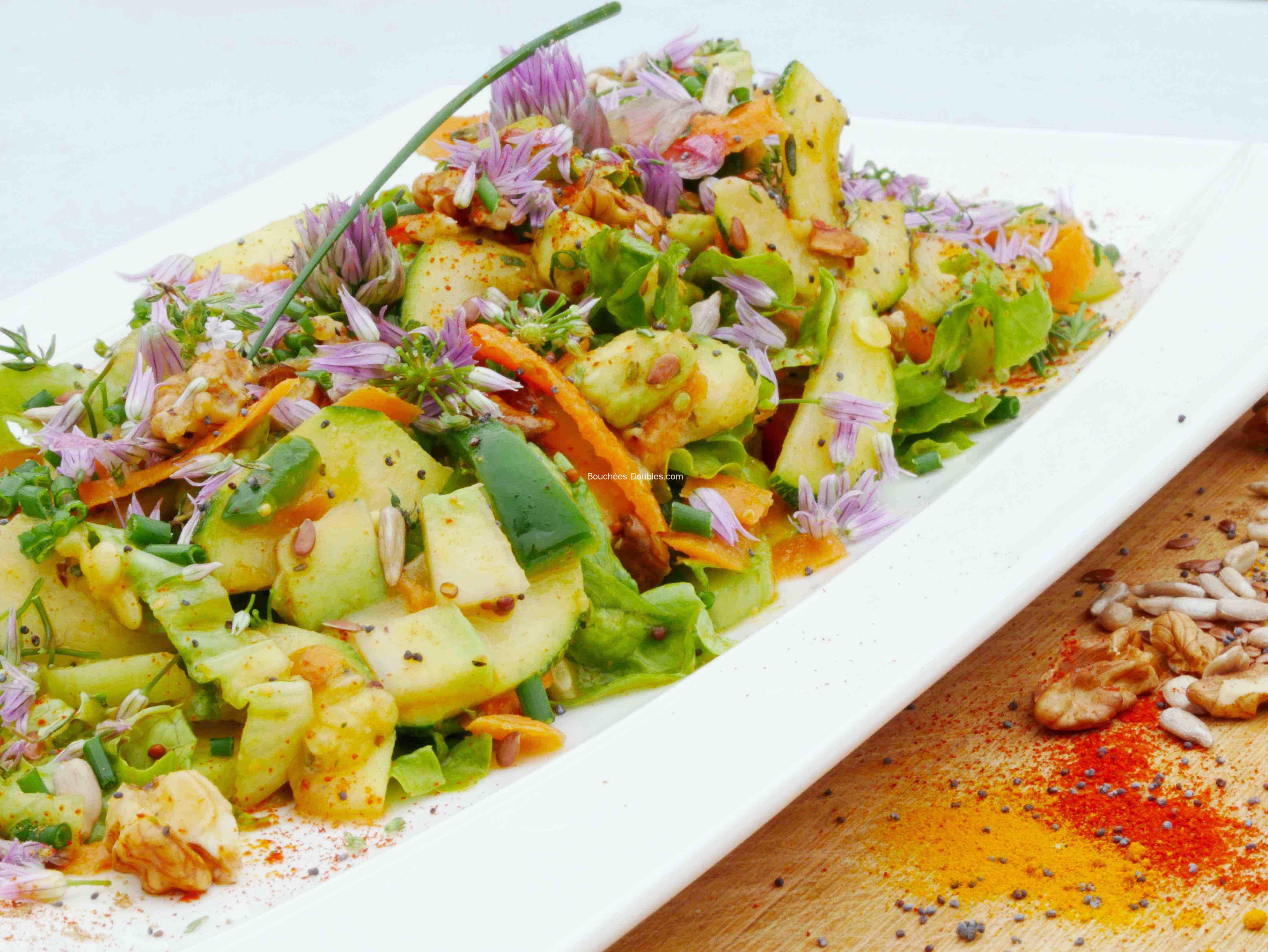 Salade vitalité en 2 textures croquante et fondante 2