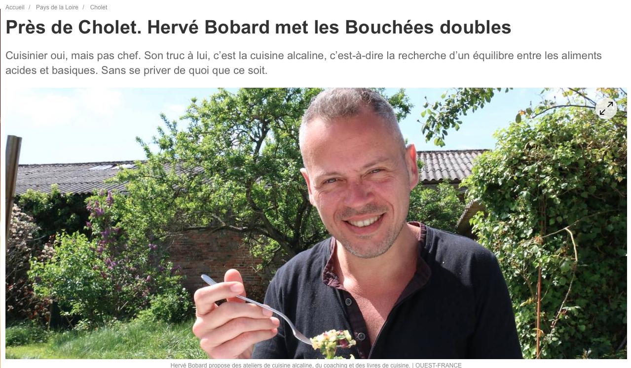 Découvrez les articles de presse sur Hervé Bobard, auteur du blog Bouchées Doubles et de livres sur l'équilibre acido-basique et sur l'alimentation alcaline.
